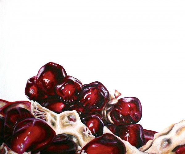 "Angela Faustina, Pomegranate X, 2012 - 2013. Oil on canvas, 24"" by 20""."