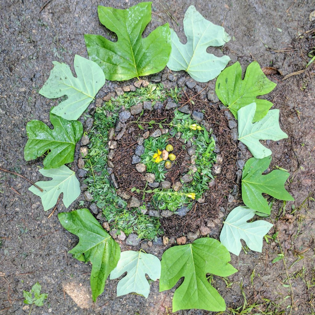 Teaching land art at Camp Barney Medintz