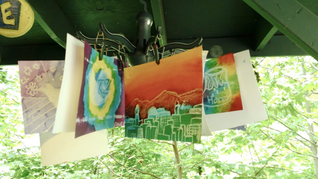 Art projects at Camp Barney Medintz