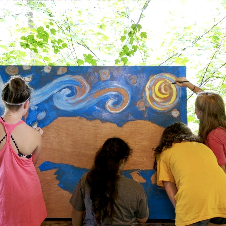 Painting lesson: Starry Night over Camp Barney Medintz