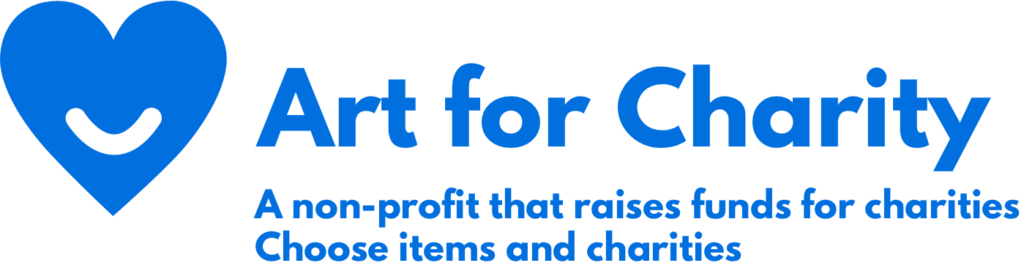 Art for Charity logo and description