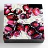 """Detail of Angela Faustina, POMEGRANATE XXXV, 2018. Oil on cradled painting panel, 6"""" by 6""""."""