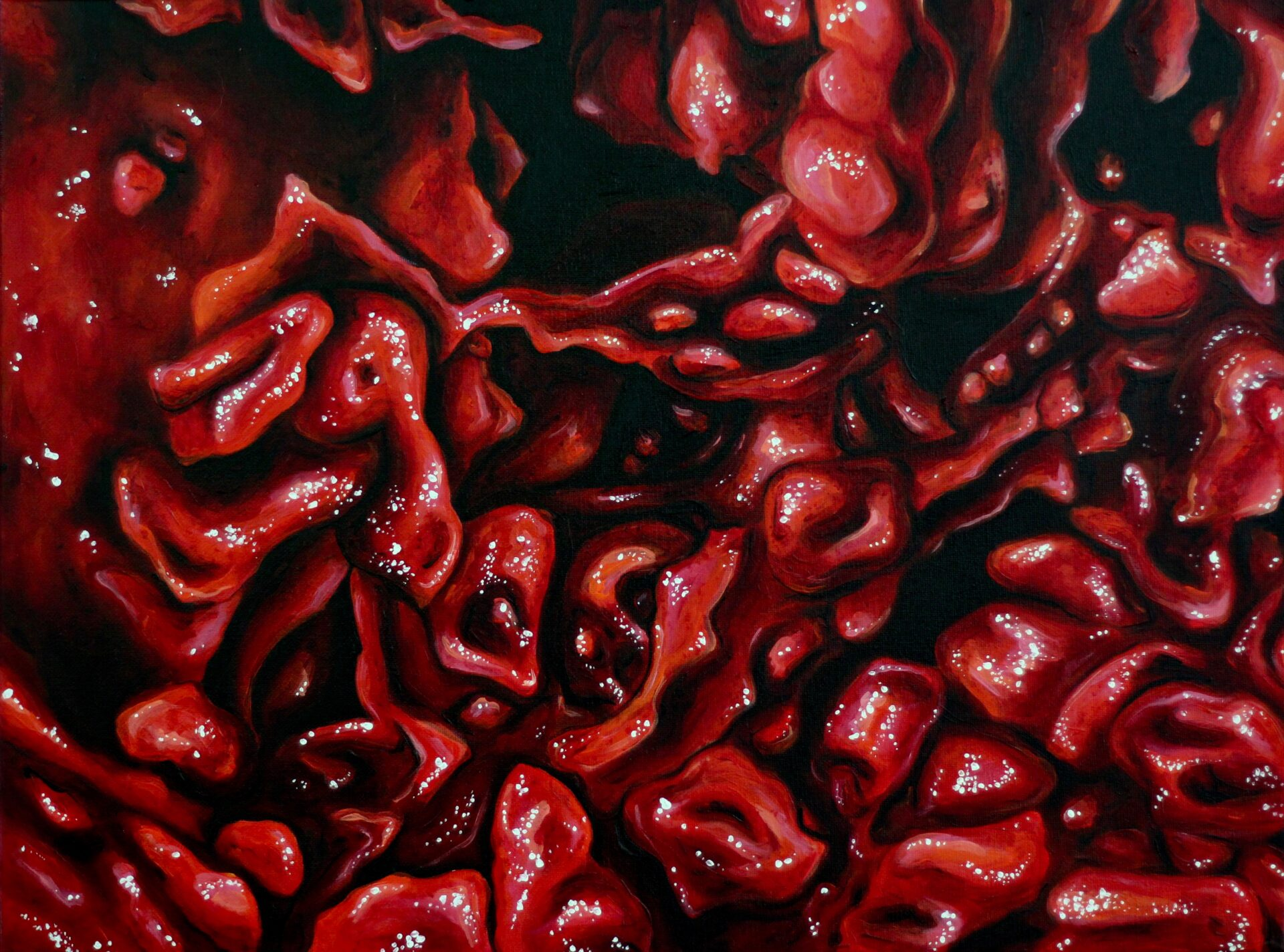 "Angela Faustina, Cactus Pear II, 2013. Oil on canvas, 24"" by 20""."