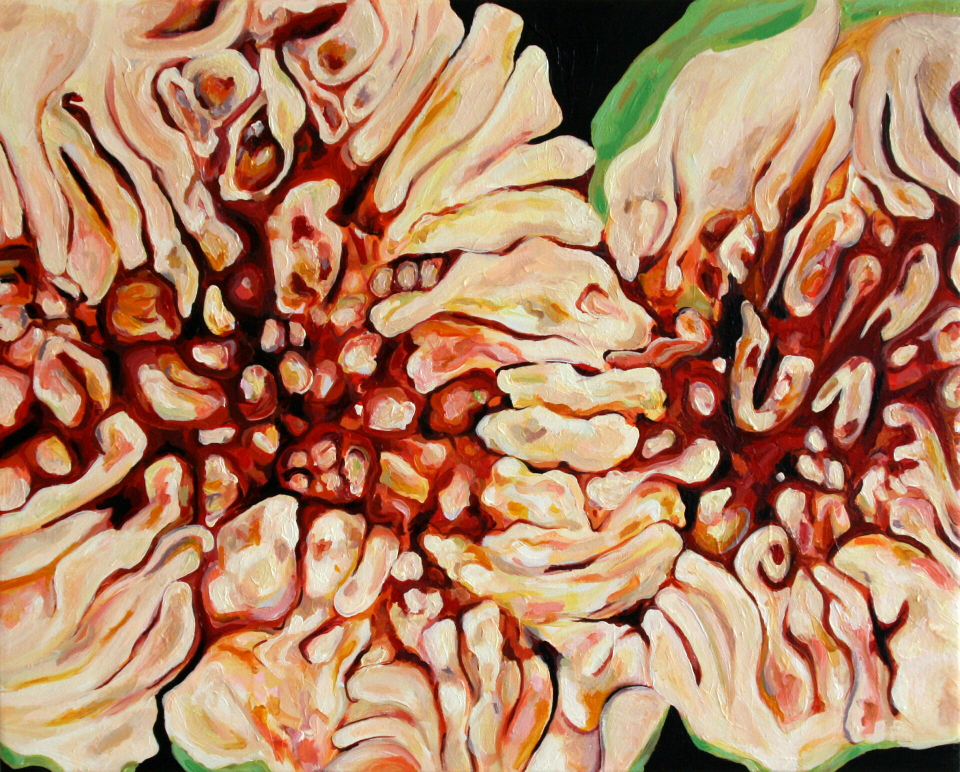 Angela Faustina, Fico (Fig) II, 2011. Oil on canvas, 50 cm by 40 cm.
