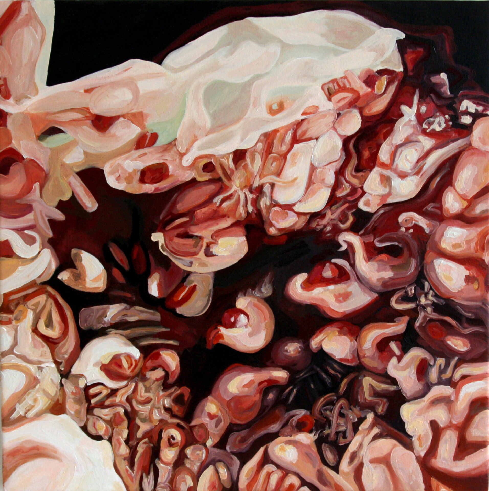 Angela Faustina, Fico (Fig) IV, 2011. Oil on canvas, 40 cm by 40 cm.
