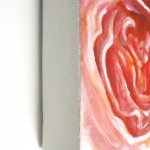 """painting detail: Angela Faustina, Pomelo I, 2012. Oil on canvas, 20"""" by 12""""."""
