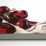 "painting detail of: Angela Faustina, Pomegranate X, 2012 - 2013. Oil on canvas, 24"" by 20""."