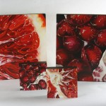 """painting detail: Angela Faustina, Blood Orange V, 2015. Oil on cradled painting panel, 16"""" by 16""""."""