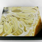 """painting detail of Angela Faustina, Meyer Lemon I, 2015-2016. Oil on cradled painting panel, 16"""" by 16""""."""