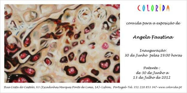 Angela Faustina at Colorida Gallery in Lisbon, Portugal