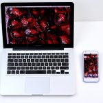 Pomegranate XXXI smartphone wallpaper by Angela Faustina on the Apple MacBook Pro and Google Pixel smartphone