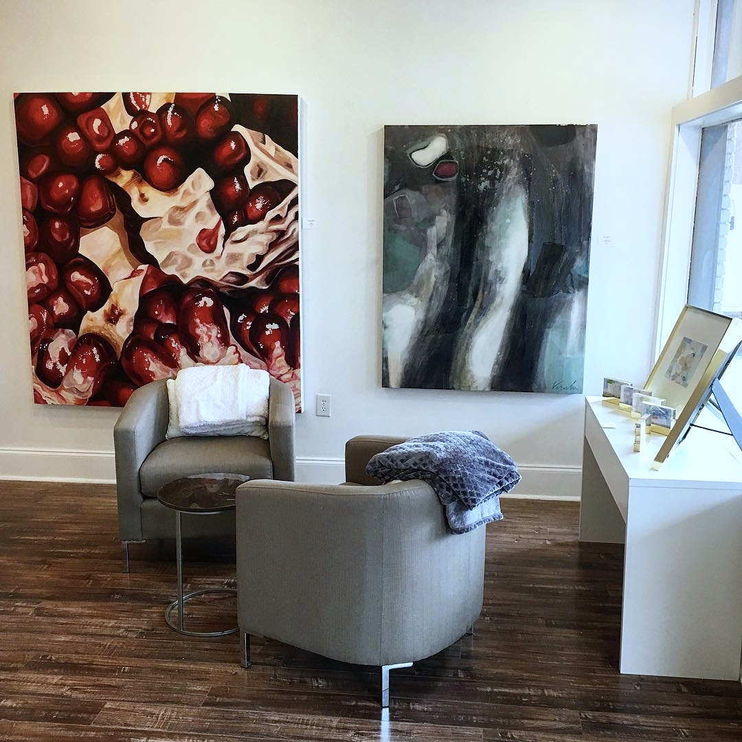 Angela Faustina's Pomegranate V (73) oil painting at gallery43 in Roswell