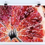 Blood Orange IX smartphone wallpaper