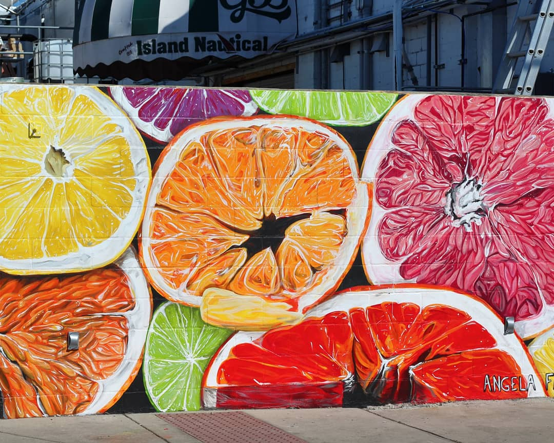 Citrus Medley mural for SHINE St. Petersburg Mural Festival at Greenbench Brewing, St. Pete, FL.