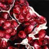 """Angela Faustina, POMEGRANATE XVLII, 2019. Oil on cradled painting panel, 12"""" by 12""""."""