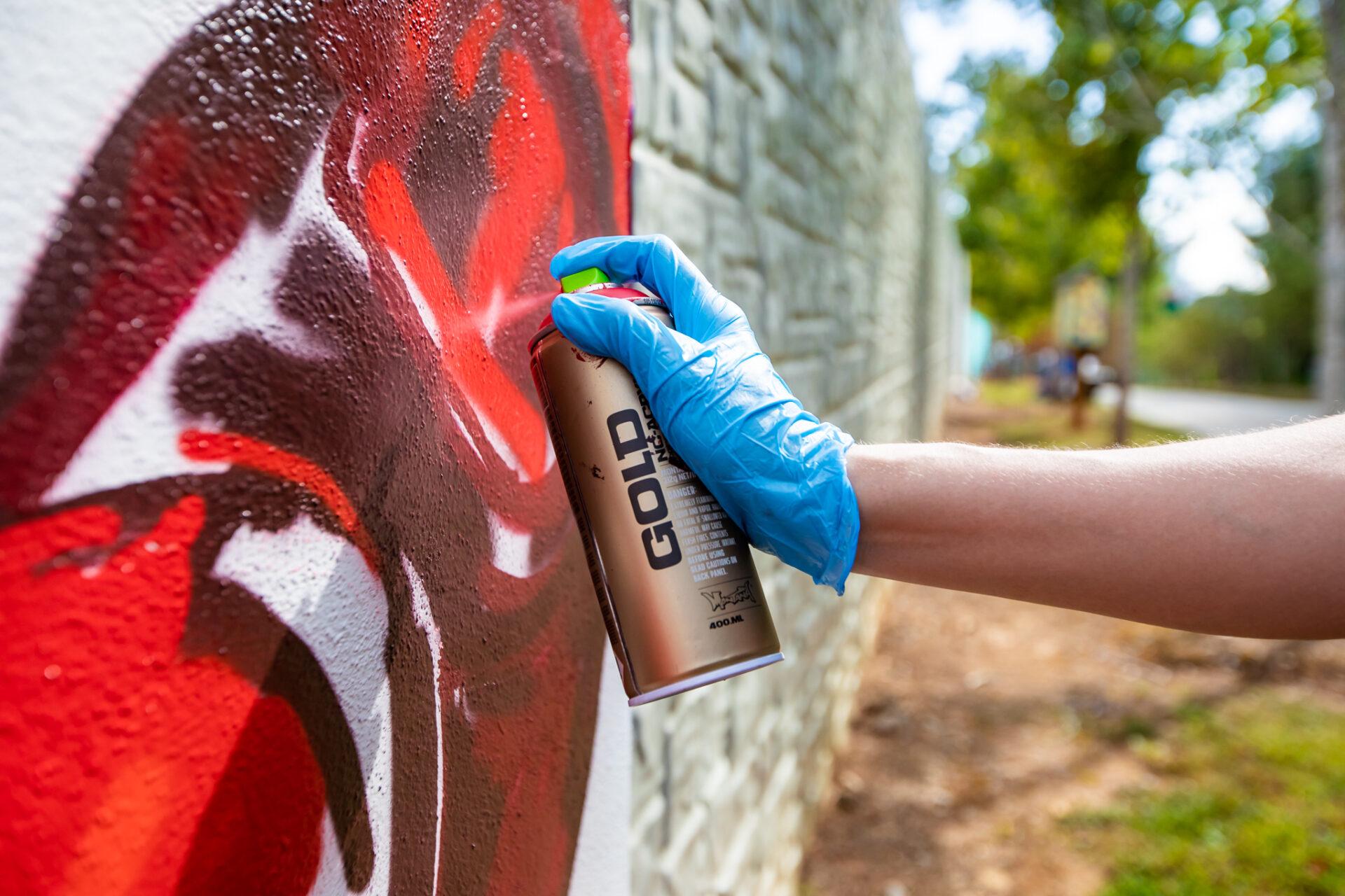Angela Faustina, POMEGRANATE XLVI mural for OuterSpace Project Mission 5, Atlanta, GA. Photo: DV Photo Video