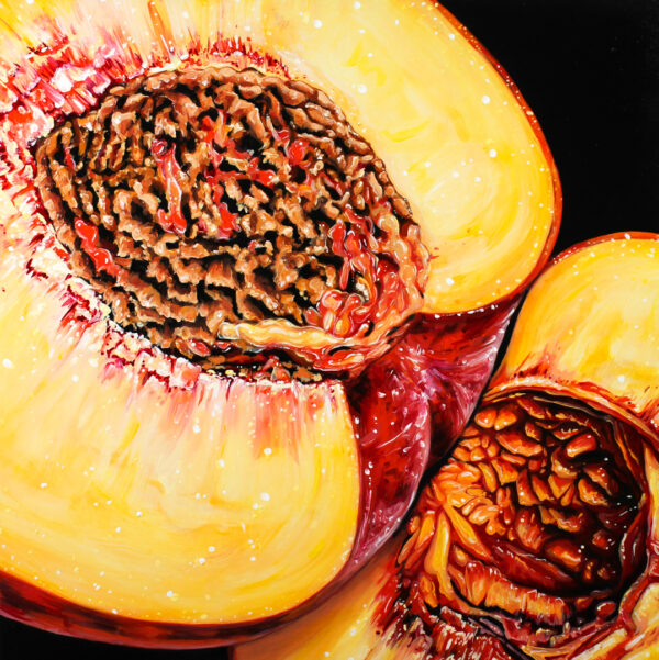 Angela Faustina, GEORGIA PEACH (XI), 2021. Oil on cradled painting panel, 12 by 12